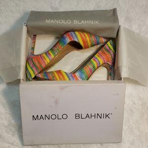 Manolo Blahnik Clarita Heels Sz 38 (8 US)
